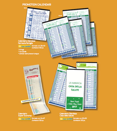 Calendari promozionali farmacia
